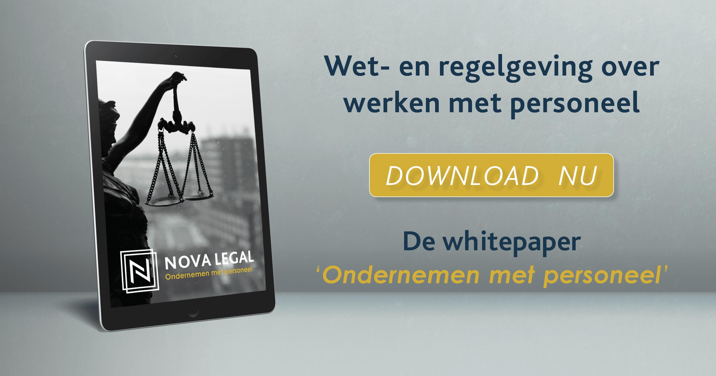 Whitepaper Ondernemen met personeel | Nova Legal | Juristenkantoor Groningen en Amsterdam